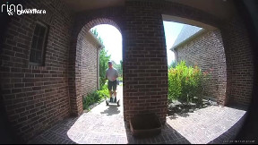 item: 'Segway fail: Guy rides segway up to homeowner's front door and falls on camera'