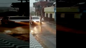 item: 'homeless guy taking a rain shower was hit by car'