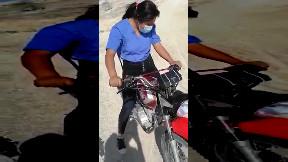 item: 'Inexpert biker crash'