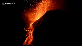 item: 'Lava spews from Mount Etna during latest spectacular eruption'