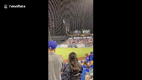item: 'Protesters invade field at Dodger Stadium in Los Angeles'